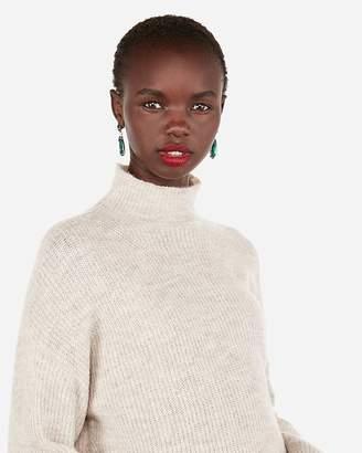 Express Mock Neck Oversized Tunic Sweater