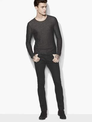 John Varvatos Two-Tone Crewneck Sweater