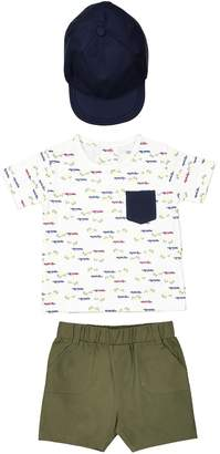 La Redoute Collections Bermuda Shorts, Cap and T-Shirt Set, 1 Month-3 Years