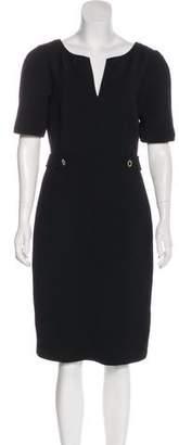 Tory Burch Wool-Blend Short Sleeve Dress