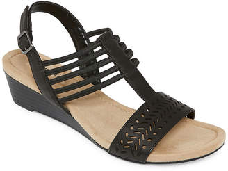 b3214d543fb3 ST. JOHN S BAY Black Women s Sandals - ShopStyle