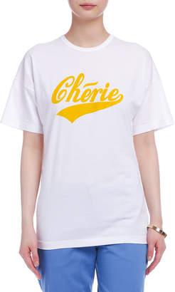 N°21 (ヌメロ ヴェントゥーノ) - N°21 Cherie クルーネック Tシャツ ホワイトxイエロー 36