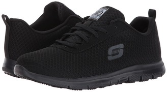 SKECHERS Work - Ghenter - Bronaugh Women's Lace up casual Shoes $65 thestylecure.com