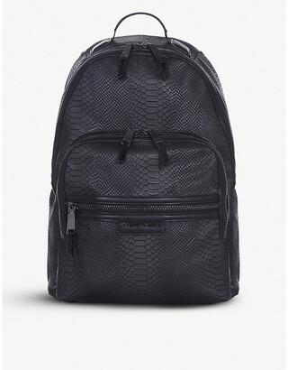 Elwood TIBA + MARL snake-embossed backpack