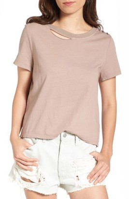 Women's Bp. Studded Ripped Baby Tee $29 thestylecure.com