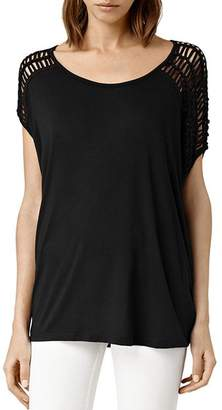 AllSaints Simmo Draped Strappy Tee