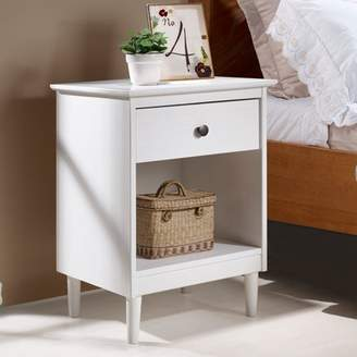Mid-Century MODERN Manor Park Classic 1-Drawer Solid Wood Nightstand - White