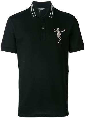 Alexander McQueen Dancing Skull polo shirt