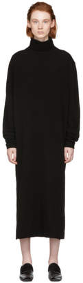 Lemaire Black Merino Wool Turtleneck Dress