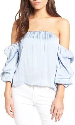Women's Bardot Caught Sleeve Bustier Top $79 thestylecure.com