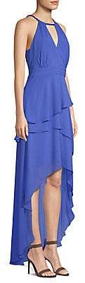 Laundry by Shelli Segal Women's Chiffon Asymmetrical Tiered Gown - Size 0