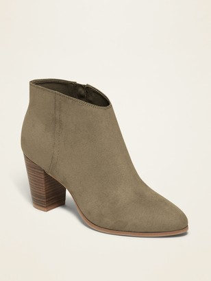 Old Navy Faux-Suede High-Heel Booties for Women