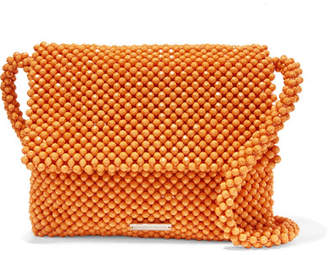 Loeffler Randall Roz Beaded Satin Shoulder Bag - Orange