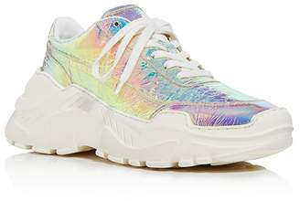 Joshua Sanders Women's Leather & Holographic Foil Lace Up Sneakers