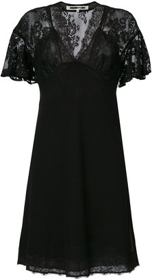 McQ Alexander McQueen lace panel butterfly sleeve dress $554.23 thestylecure.com