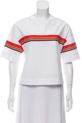Tela Short Sleeve Stripe Top