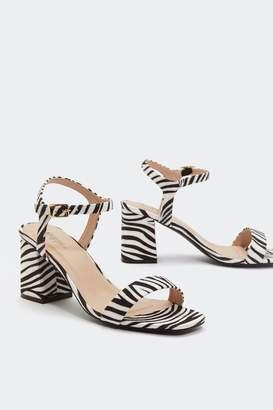 3134be24af60 Nasty Gal Hunt  Em Down Zebra Heels