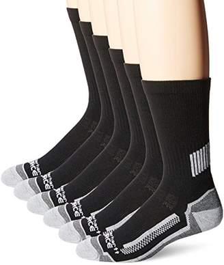 Carhartt Breathable & Lightweight Work Crew Men`s Socks   Odor Resistant Socks with Reinforced Heel & Toe   Pack of 6