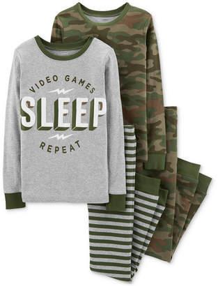 Carter's Little & Big Boys 4-Pc. Snug-Fit Cotton Pajamas Set