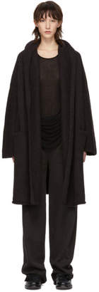 LAUREN MANOOGIAN Black Capote Hooded Cardigan