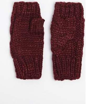 Dorothy Perkins Womens Wine Fingerless Gloves