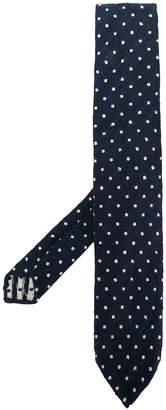 Lardini polka-dot textured tie