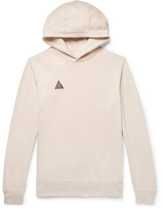 Nike Acg Logo-Print Loopback Cotton-Blend Jersey Hoodie