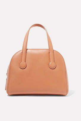 The Row Sporty Bowler Small Leather Tote - Tan