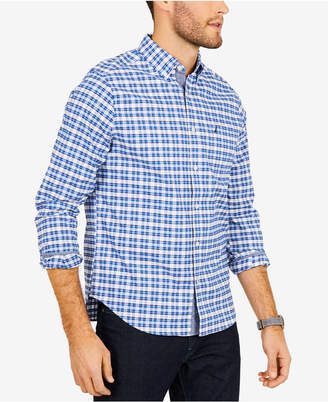 Nautica Men Oxford Plaid Shirt
