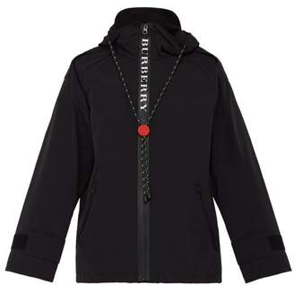 Burberry Hooded Technical Faille Jacket - Mens - Black