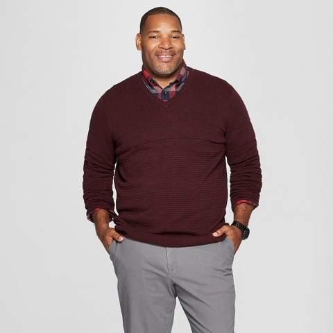 Goodfellow & Co Men's Big & Tall Crew Neck Sweater - Goodfellow & Co Burgundy Heather