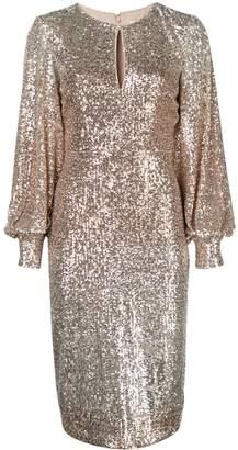 Badgley Mischka sequin embellished dress