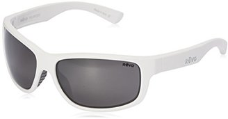 Revo Baseliner RE 1006 Polarized Wrap Sunglasses, White/Blue Water, 61 mm $139.99 thestylecure.com