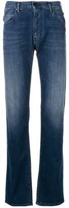 Emporio Armani light-wash straight leg jeans