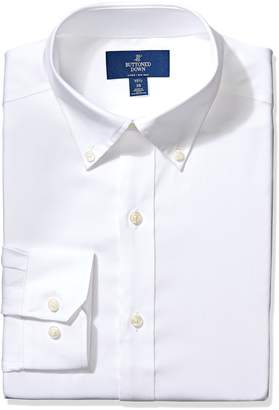 Buttoned Down Men's Fitted Button-Collar Non-Iron Dress Shirt