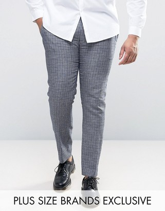 Heart & Dagger PLUS Skinny Gingham Check Pant $72 thestylecure.com