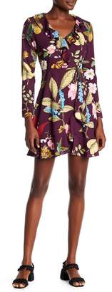 Romeo & Juliet Couture Floral Faux Wrap Dress