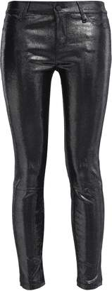 RtA Coated Lizard-effect Leather Skinny Pants