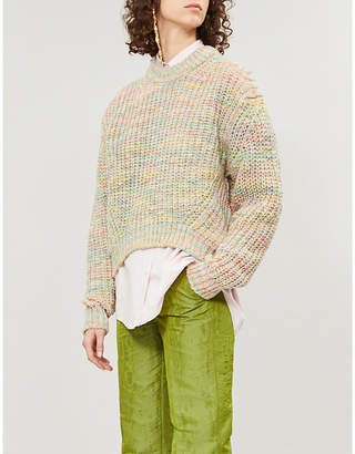 Acne Studios Kora chunky-knit cotton and wool-blend jumper