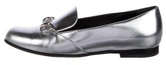 Gucci Lillian Horsebit Metallic Loafers