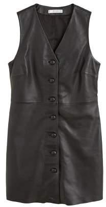 MANGO Leather dress