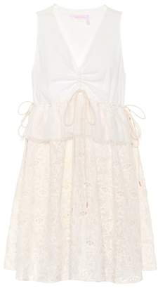 See by Chloe Lace and cotton minidress