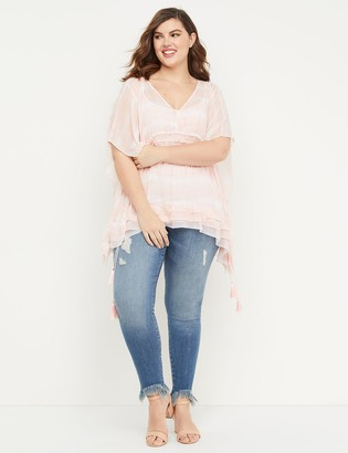 Lane Bryant Super Soft Super Stretch Skinny Jean - Frayed Hem