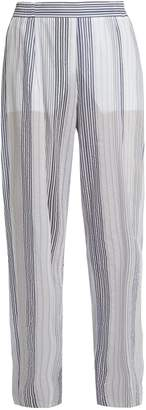 Stella McCartney High-rise wide-leg striped trousers