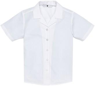 Very Girls 3 Pack Revere Collar Short Sleeve School Shirts - White