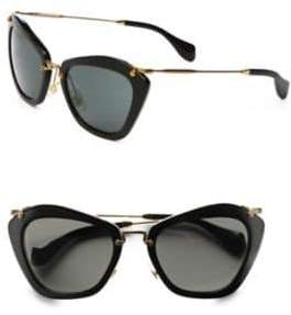 miu miu sunglasses u1vc  Miu Miu Noir Catwalk Cat's-Eye Sunglasses