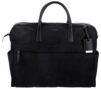 Tumi Leather-Trimmed Woven Briefcase