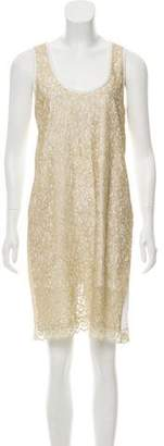 See by Chloe Lace-Accented Knee-Length Dress