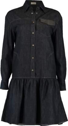 Brunello Cucinelli Denim Flutter Dress
