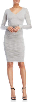 Bailey 44 Ruched V-Neck Bodycon Dress